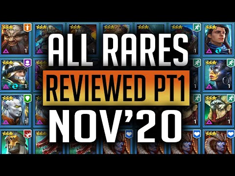 RAID | ALL RARES REVIEWED Nov'20 - Banner Lords, High Elves, Sacred Order. Barbarians, Ogryn Tribes