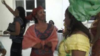 Dancing with sister Khadijah and my wife Bondu