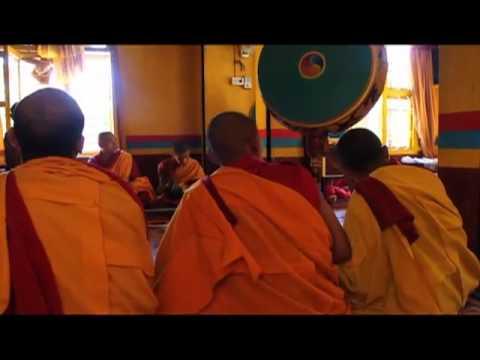Lama Puja, Shree Gaden Dhargay Ling Monastery in Pokhara, Nepal
