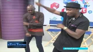 #theTrend: Fuse ODG teaches Larry the 'Azonto' dance move. Did he nail it?