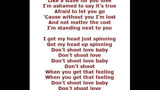 maroon 5 - shoot love (lyrics)