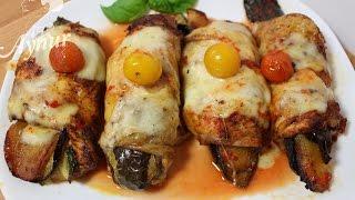 Firinda sebze dolgulu tavuk budu#Günün menüsü#Gefüllte Hähnchenkeule mit Gemüse Blitzrezept