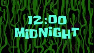 12:00 Midnight | SpongeBob Time Card #20