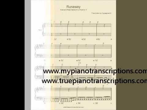 Runaway Kanye West Sheet Music Chords Chordify
