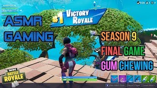ASMR Gaming | Fortnite Final Season 9 Game Relaxing Gum Chewing 🎮🎧Controller Sounds + Whispering😴💤