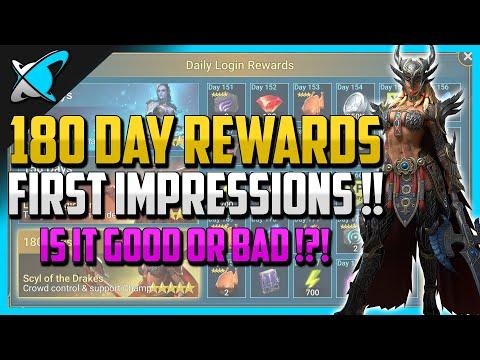 RAID: Shadow Legends | 180 Day Loyalty Rewards First Impressions !! | IS IT GOOD OR BAD !?