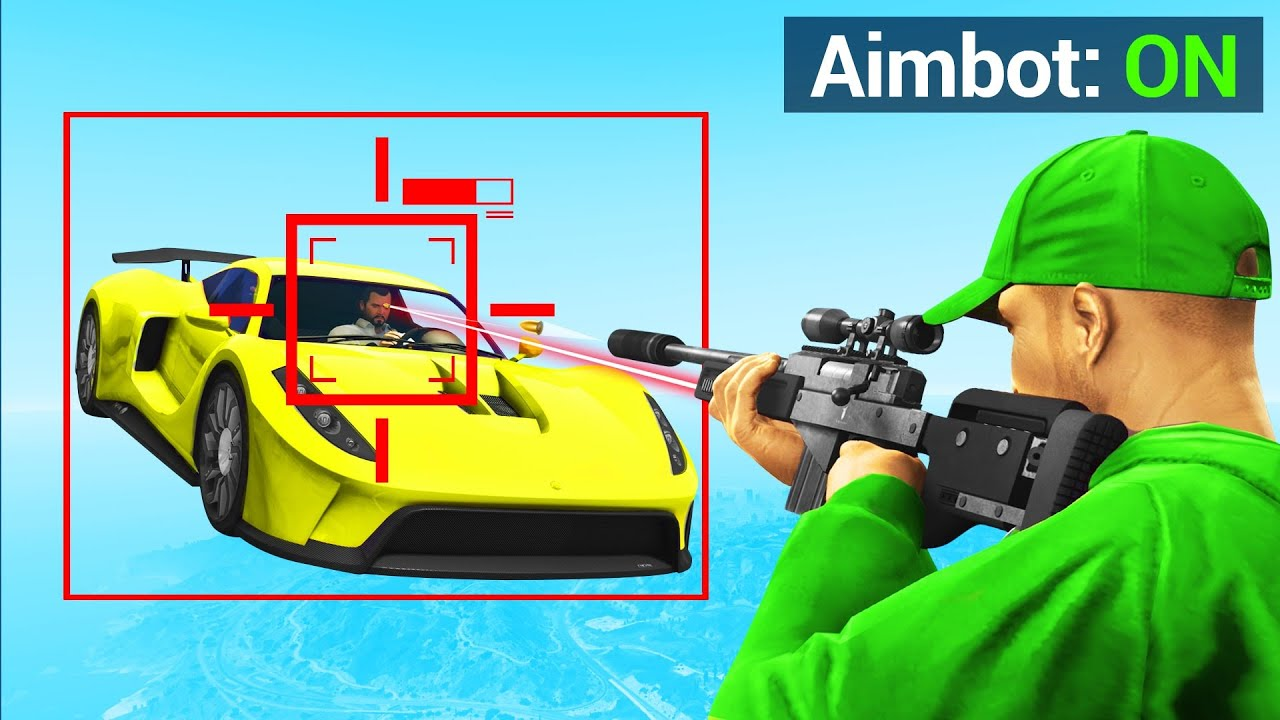 Jelly - CHEATING In GTA 5 SNIPERS Vs. CARS! (Auto-Aim)