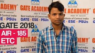Sanjit Kumar Prasad | AIR 185 | EC | GATE 2018
