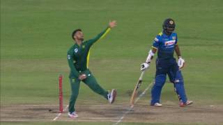 South Africa vs Sri Lanka - 2nd ODI - Chaturanga de Silva  Wicket width=