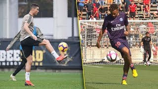 Cristiano Ronaldo Vs Neymar Jr Crazy Freestyle Skills 2018 🔥