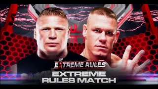 WWE Extreme Rules 2012 ► Brock Lesnar vs John Cena [OFFICIAL PROMO HD]
