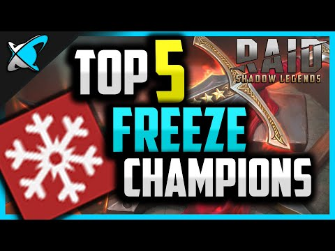 Top 5 FREEZE Champions in RAID: Shadow Legends!!
