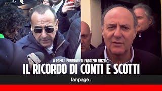 """Morte Fabrizio Frizzi, Carlo Conti dopo i funerali: """"Era un fratello"""". Gerry Scotti: """"Brava persona"""""""