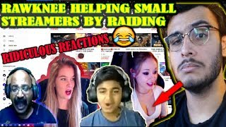 RAWKNEE RAIDING SMALL YOUTUBERS | RIDICULOUS REACTIONS| THE RAWKNEE GAMES|RAWKNEE SHOW