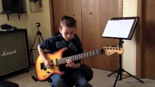 10 Year Old Plays Iron Maiden Hallowed Be Thy Name Guitar Cover
