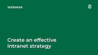 Webinar   How to create an effective intranet strategy Logo