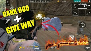FREE FIRE | RANK DUO AND 14(total) KILL FREE FIRE | GIVEWAY