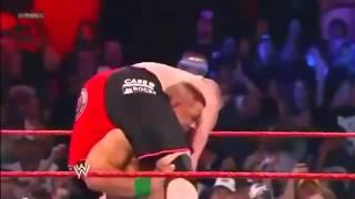John Cena - Attitude Adjustment Brock Lesnar On The Steel Step