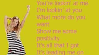 Positivity - Ashley Tisdale with lyrics