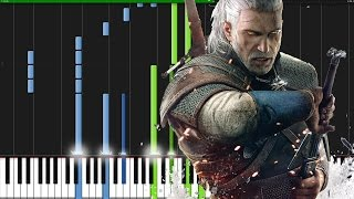 Geralt of Rivia (Main Theme) - The Witcher 3 [Piano Tutorial] (Synthesia)