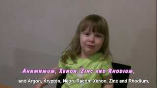 3 Year-Old Sings Tom Lehrer's Elements Song