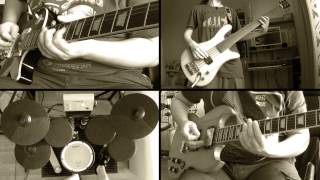 Joan Jett - I Love Rock N' Roll (guitar, bass & drum full cover / online collaboration) HD