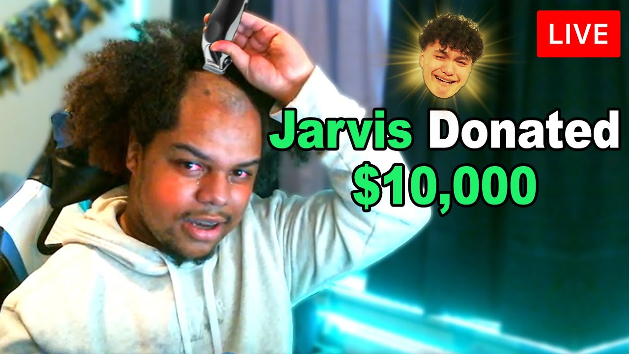 Jarvis - Donating $10,000 If Streamers Shave Their Head