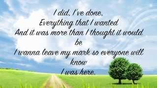 I Was Here (lyrics) - Beyonce