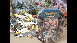Pokemon Tcg - Unboxing Lata de Alola Solgaleo -GX.