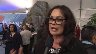 "Moana ""Gramma Tala"" World Premiere Interview - Rachel House"