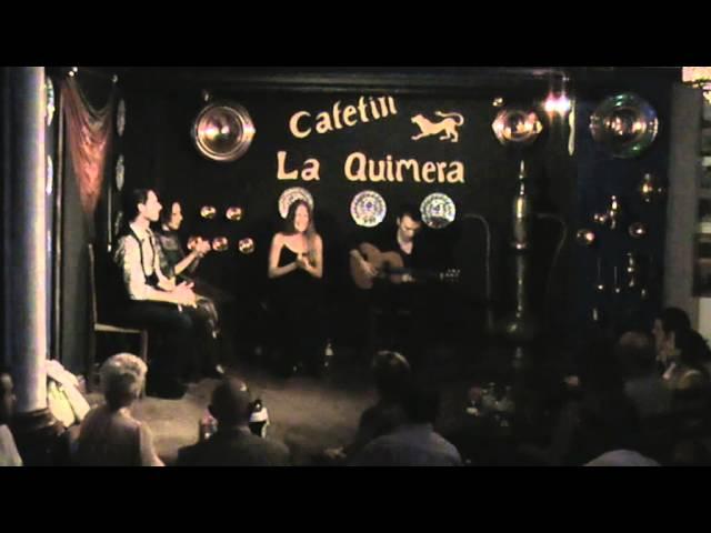 Vídeo de Sonia Cortés cantando en un tablao flamenco.