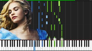 Lavender's Blue (Dilly Dilly) - Cinderella (2015) [Piano Tutorial] (Synthesia)