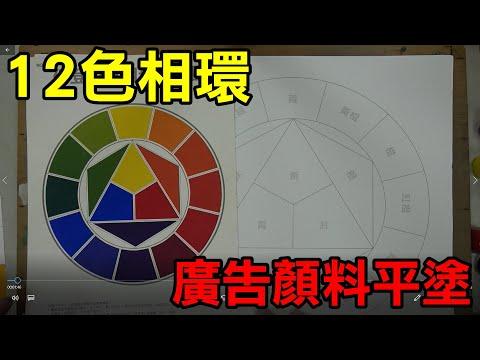 輕輕鬆鬆學美術(美勞)5--廣告顏料平塗12色相環/國小中年級適用 - YouTube