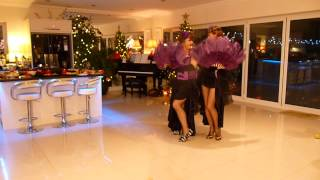Maria and Linda performing 'Sisters' at New Year Party !