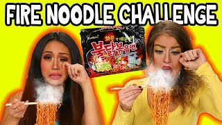 Fire Noodle Challenge. We Try Spicy Ramen Noodles. Totally TV width=