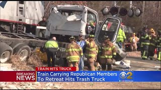 Train Carrying House Republicans Hits Truck In Virginia