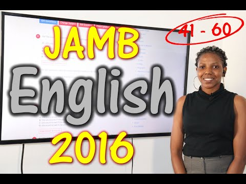 JAMB CBT English 2016 Past Questions 41 - 60
