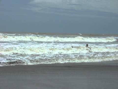 Cox's Bazar sandy sea beach with tsunami like giant waves