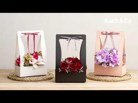 Flower Carry Box 22x11.5x35.5cm Black Pack 5