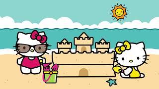 Disfrutando las vacaciones en la playa   El Mundo de Hello Kitty