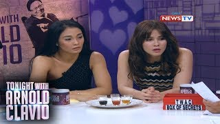 "Tonight with Arnold Clavio: Lovely Abella at Valeen Montenegro, isinalang sa hot seat sa ""TWAC!"""