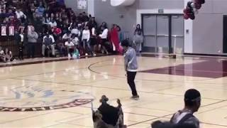 Teen destroys rally show dancing to Micheal Jackson's Jam