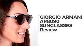 553ff4257b62 Giorgio Armani AR8090 FRAMES OF LIFE 5017R5 Sunglasses Black ...