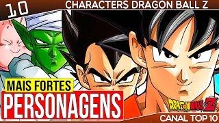 10 Personagens mais Fortes Dragon Ball Z   Canal TOP 10 🙌