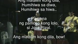 Matapos Humiwa ng Matalim kong Dila... Itarak Pambiyak ang Malaki kong Tabak (kantula)