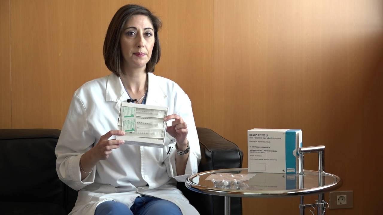 Menopur® 1200 UI: Medication preparation and administration.
