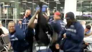 Shamarr Allen and Brass-A-Holics HARLEM SHAKE IN M.I.A AIRPORT