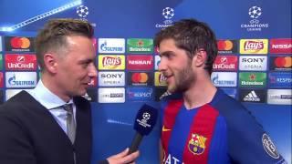 Sergi Roberto po historycznym meczu Barcelona - PSG || Wywiad || Liga Mistrzów
