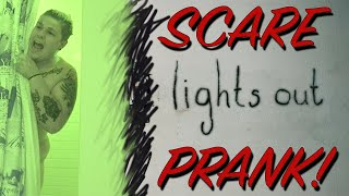 LIGHTS OUT SCARE PRANK! - PRANKS