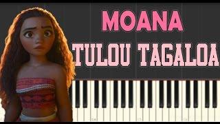 Tulou Tagaloa - Moana Soundtrack - Piano Tutorial (Slow) - How To Play